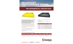 Hyprene - Model XC (L) - Rod Secondary Containment Berms Brochure