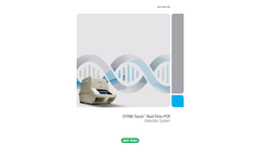 Bio Rad - Model CFX96 - Touch Real-Time PCR Detection Systems Brochure