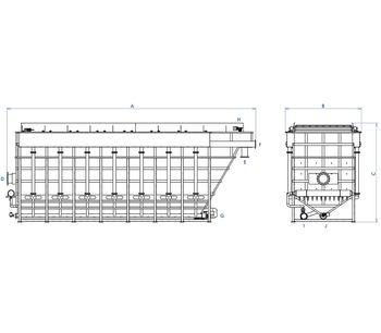 Dissolved Air Flotation System. DAF Clarifier-4