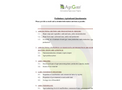 Preliminary Agricultural Questionnaire  Brochure
