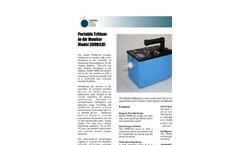 Sartrex - Model 309B (LD) - Portable Tritium-In-Air Monitors Brochure