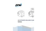 Air Operated Bellows Pump DT Series  Manual