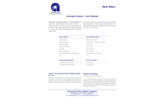 Anthracite - Granular Activated Carbon - Acid Washed Filter Media Brochure