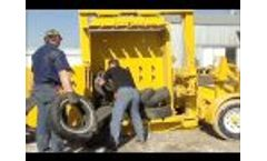Eagle ETB90 Tire Baler - Video