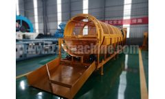 Rotary sand gravel sieving machine working principle
