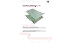 Derrick - Model FLC - SJ-PWP - 2000 - Shale Shaker Replacement Screens Brochure