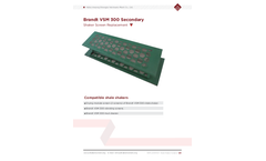 Brandt - Model SJ-VSM 300SE - Secondary Shaker Replacement Scalping Screens for Drying Deck Brochure