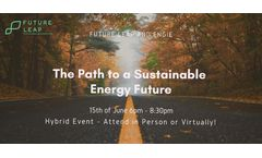 The Path to a Sustainable Energy Future
