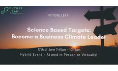 Science Based Targets: Become a Business Climate Leader