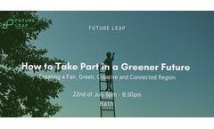 How to Take Part in a Greener Future