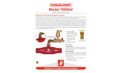 PURGEnVENT 7950ILV Automatic Air Venting Valve with Separation Chamber - Technical Data Sheet