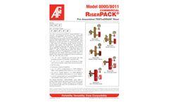 RiserPACK 8000/8011 Commercial Pre-Assembled TESTanDRAIN Riser - Technical Data Sheet