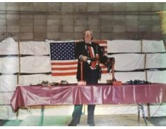 George McHugh III at a tradeshow table back in the day.