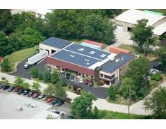 Solar panels on the roof of our Malvern, PA facility.