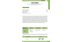 Fulvihum - Nutrient and Revitalizing of Tired Soils - Datasheet
