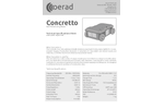 Concretto - Lightweight Portable and Sturdy Wall Penetrating Radar (WPR)  Technical Specifications Brochure