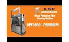 DPF1800-Premium Diesel Particulate Filter Cleaning Machine - Video