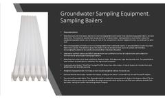 Groundwater Sampling Equipment.Sampling Bailers - Brochure