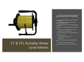 ET & ETL Portable Water Level Meters - Brochure