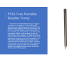 PFAS-Free Portable Bladder Pump - Brochure