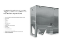 Water Treatment Systems Oil/Water Separators - Brochure