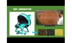 Disc granulator machine Video