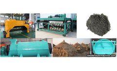 Processing organic fertilizer by using crop straw