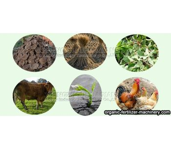 What raw materials can be used to produce organic fertilizer