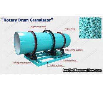 Equipment of granulating in organic fertilizer production line