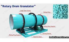 Organic fertilizer granulation process will contribute to the development of fertilizer production