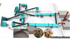 The main processes of large straws in organic fertilizer production line