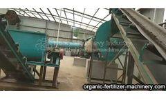 Equipment of dairy cattle manure treatment organic fertilizer