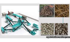 Three advantages of organic fertilizer making machine processing manure straw