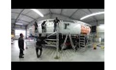 Truck Trailer Stuck in 4 minutes ... 360 ° Time Lapse Video