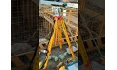 Sinorock SY7 Ultra Sonic Pile Integrity Tester CSL Testing on Site. Video
