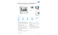 RADWAG - Model RMC F - Robotic Balance for Filter Weighing - Brochure