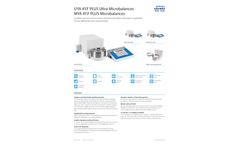 UYA 4Y.F PLUS Ultra-Microbalances and MYA 4Y.F PLUS Microbalances - Brochure