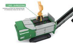 Komptech Terminator: Single Shaft Shredder for Pre-Shredding of Waste and Wood Video