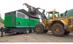 Komptech Crambo Shredding Forest Residues and Waste Wood Video