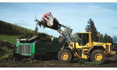 Komptech Axtor 6010 Shredding Green Waste Video