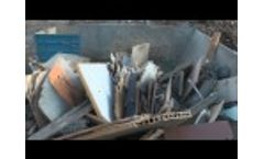 Komptech Crambo Shredding Waste Wood Video