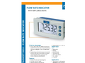Fluidwell - Model D010 - Flow Rate Indicator with Very Large Digits - Brochure