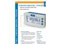 Fluidwell - Model D012 - Flow Rate Indicator / Totalizer - Brochure