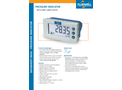 Fluidwell - Model D050 - Pressure Indicator with Very Large Digits - Brochure