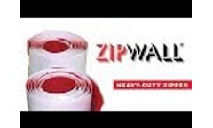 ZipWall Heavy Duty Zipper - Quickly Create a Door in Your Plastic Sheeting Dust Barrier - Video