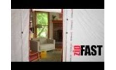 ZipWall ZipFast Reusable Barrier Panels – How to Contain Dust without Plastic Sheeting - Video