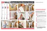 ZipWall - Model MDK - Magnetic Dust Barrier Door Kit - Brochure