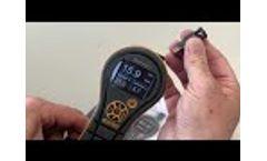 Protimeter Hygromaster L - Quick start demo. Fast response thermo-hygrometer - Video