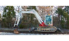 BTE - Model 290H - Railroad Modified Hi-Rail Mini Excavator
