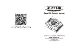 Alorair - Model Zeus 900 - Radial Air Mover - Manual
